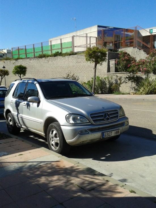 Det var den här Mercedesen som den spanska polisen i Sabinillas intresserade sig för. Foto: Elisabet Höglund