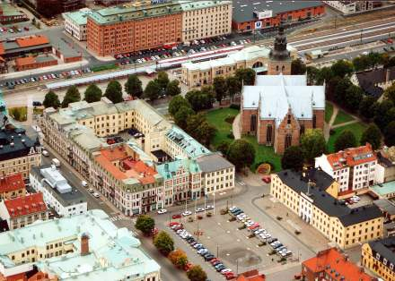 Översiktsbild över Kristianstad foto: kristianstad.se