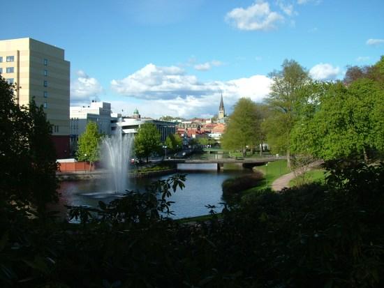 Centrala Borås från Stadsparken Foto: Wikimedia.commons