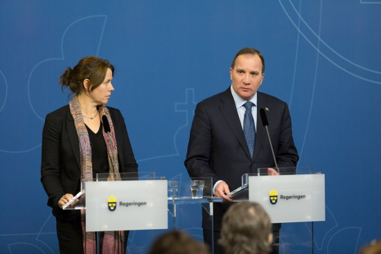 Miljöminister Åsa Romson och statsminister Stefan Löfven Foto: Regeringskansliet