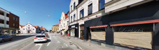 Flera fall av misshandel har inträffat här på Linnégatan i Malmö i september. Foto: hitta.se