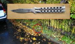 Polisen tänker jämföra DNA:t från gärningsmannen med DNA-proverna från den man som 2004 mördade två människor i Linköping. På de här bilden ser vi den kniv som användes vid det 12 år gamla men ouppklarade mordet. Foto: polisen.se