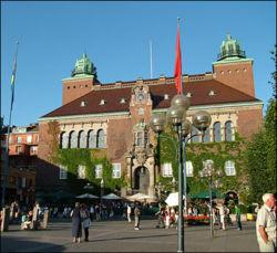 En man blir svårt misshandlad i centrala Borås. Foto: Commons.wikimedia.org