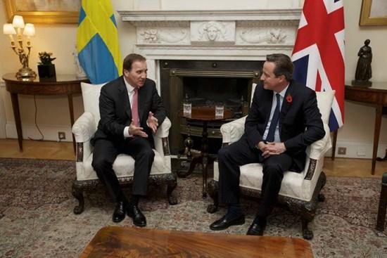 Stefan Löfven och David Cameron Foto: Regeringskansliet/Tim Ireland/TT