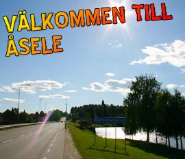 En äldre man misshandlas här i Åsele. Foto: asele.nu