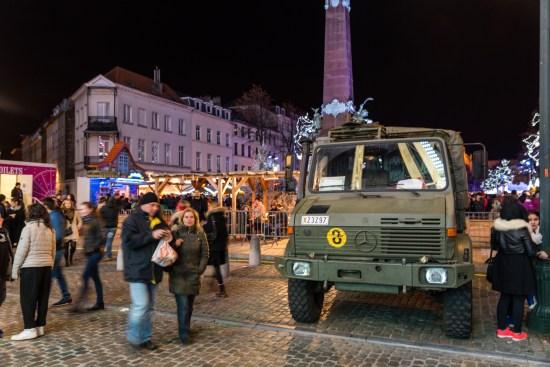 Bryssels gator kantas idag av stridsvagnar. (Bilden tagen vid ett annat tillfälle) Copyright: Gpahas/Dreamstime.com