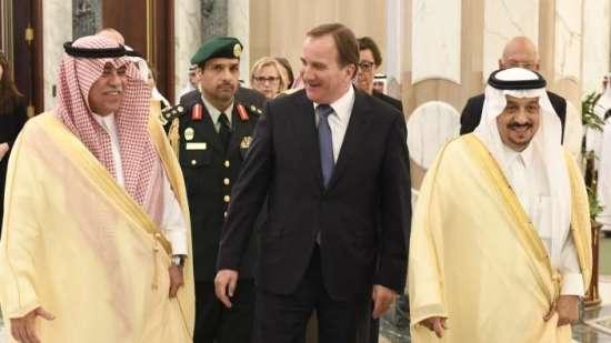 Stefan Löfven på besök i Saudiarabien Foto: