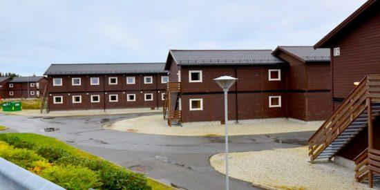 Det var de här modulhusen i Fagersjö som förstördes genom mordbranden. Bild: ramirent.se
