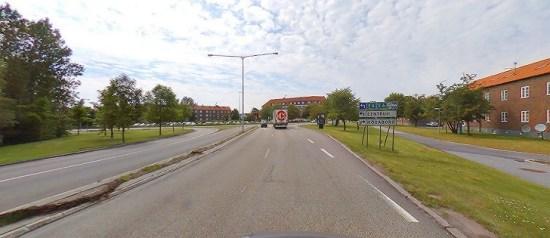 En dög man hittades utomhus här i stadsdelen Högaborg i Helsingborg. Bild: kartor.eniro.se