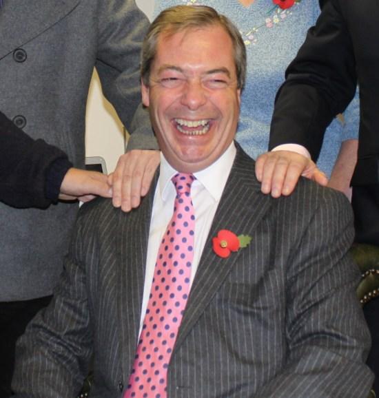 Nigel Farage, f d ledare för brittiska Ukip Foto: Wikimedia Commons