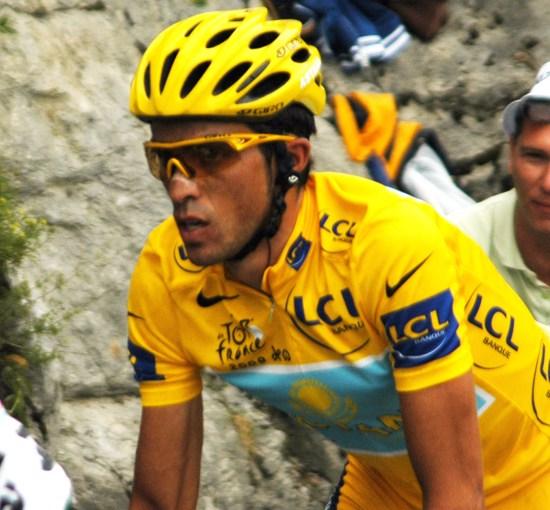 Proffscyklisten och spanjorer Alberto Contador avstängd för doping Foto: Wikipedia.org
