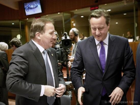 Stefan Löfven och David Cameron Foto: Europeiska rådet