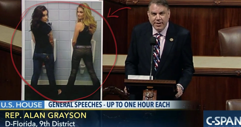 Rep. Alan Grayson Slams GOP For NC Bathroom Bill: 'My GOD, What's WRONG With You!?' (VIDEO)