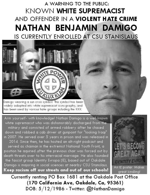Nathan Damigo, White Supremacist.