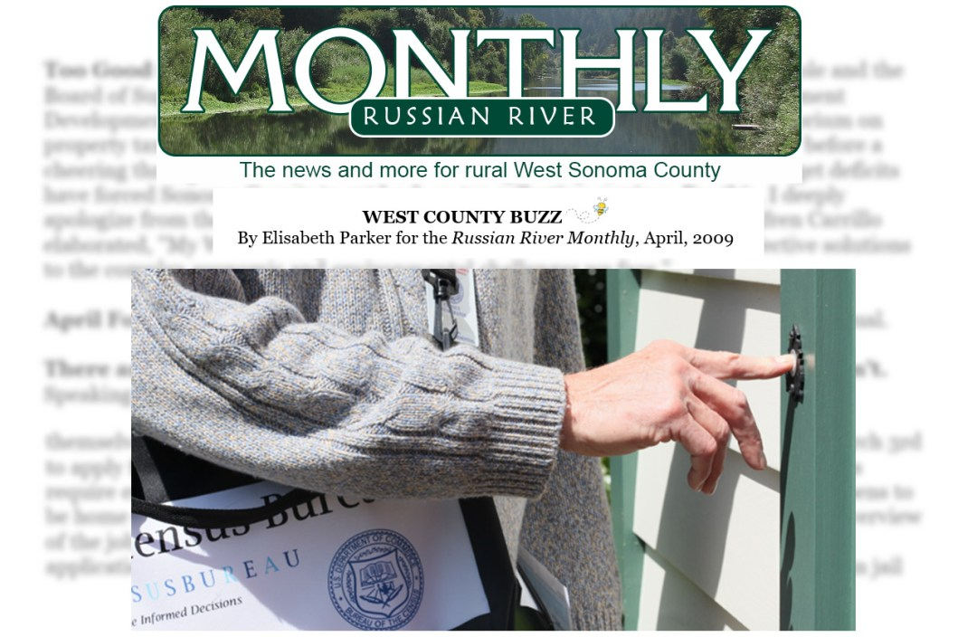 Writing Samples - Elisabeth Parker - Russian River Monthly - West County Buzz - April 2009.