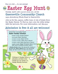 2009 Easter Egg Hunt Flier for the Guerneville Community Church.