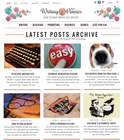 2013 - Design for Writing for Pennies website (now defunct).