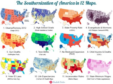 2014.08.12 - The Southernization of America in 12 Maps