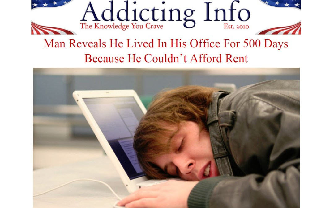 Man Living In His Office