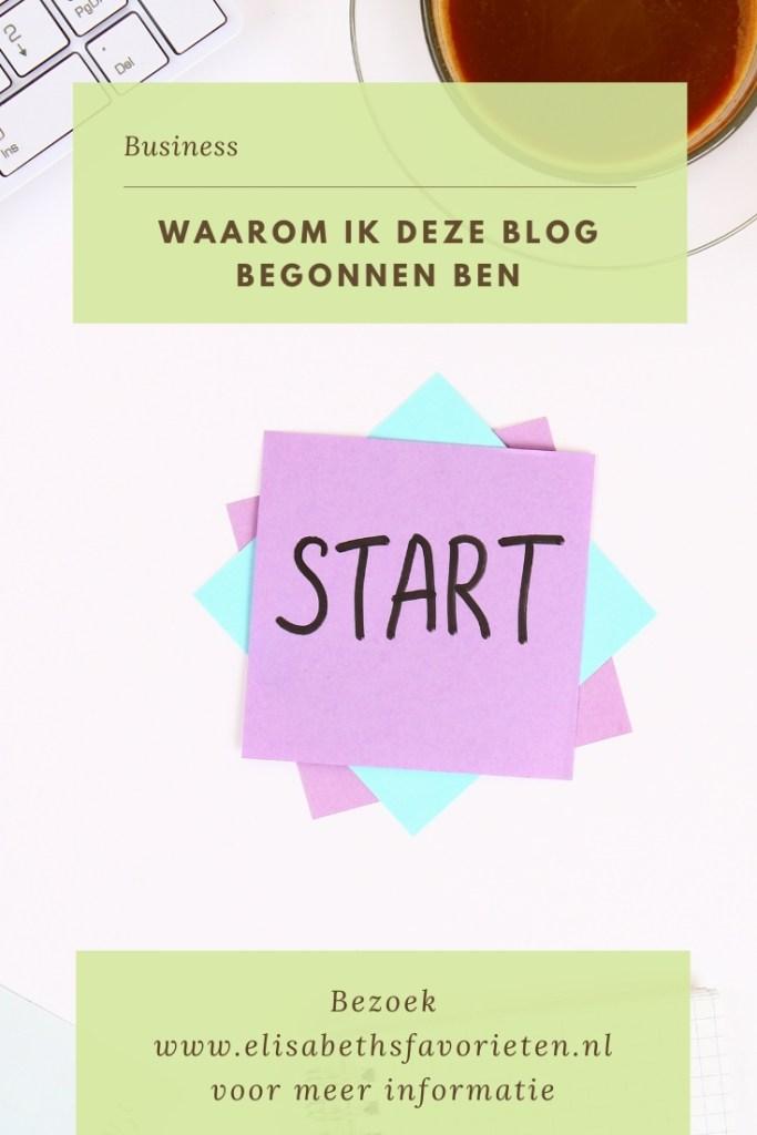Waarom ik deze blog begonnen ben