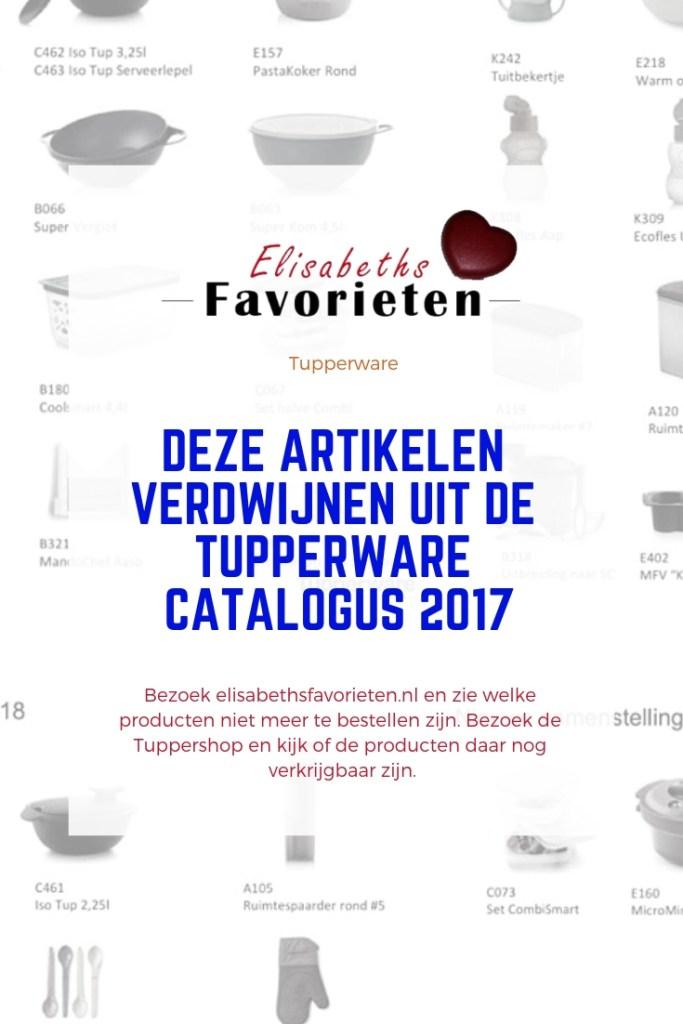 Deze artikelen verdwijnen uit de Tupperware catalogus 2017