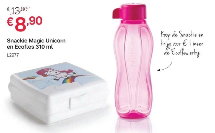 snackie unicorn met ecofles 310 ml