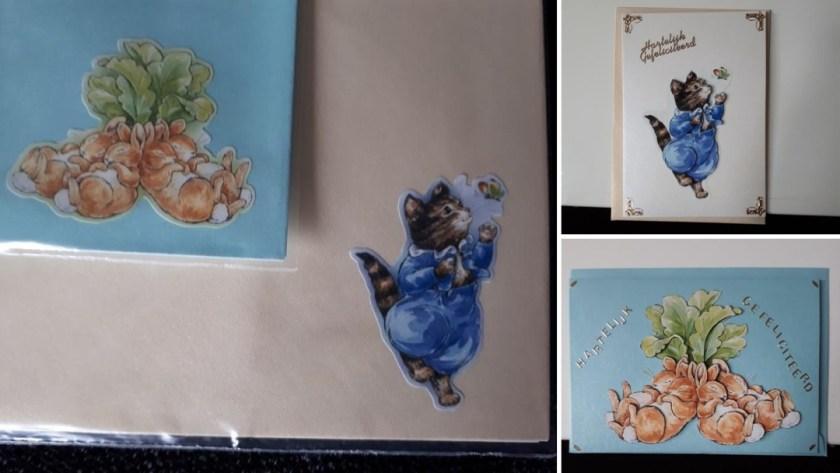 gemaakte kaarten mei - peter rabbit
