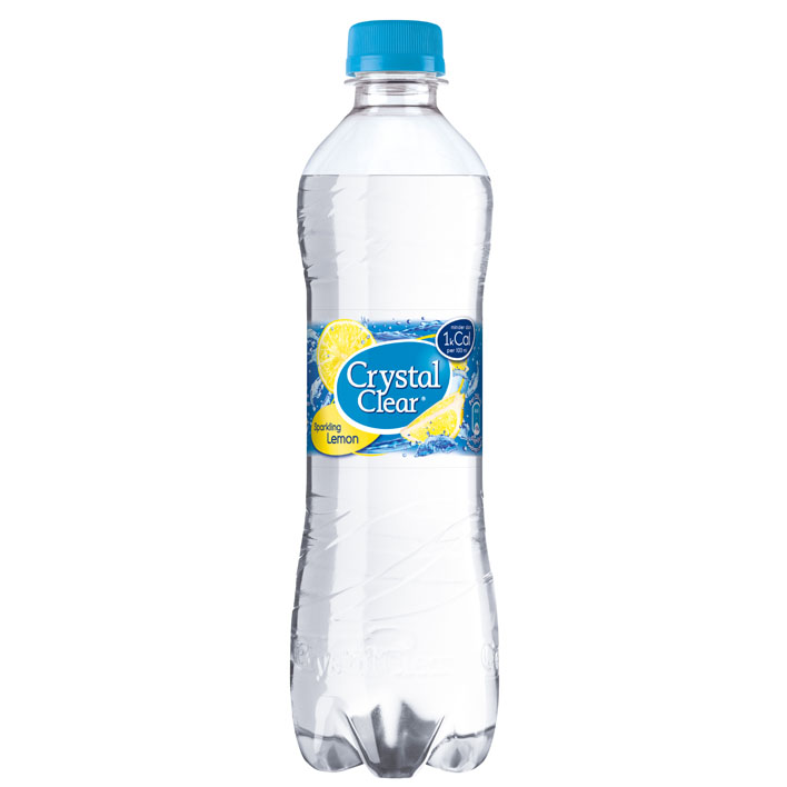 Crystal Clear fles met lemon