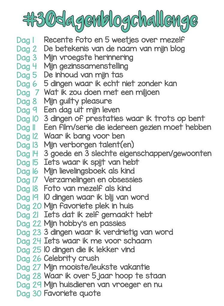 #30dagenblogchallenge onderwerpen
