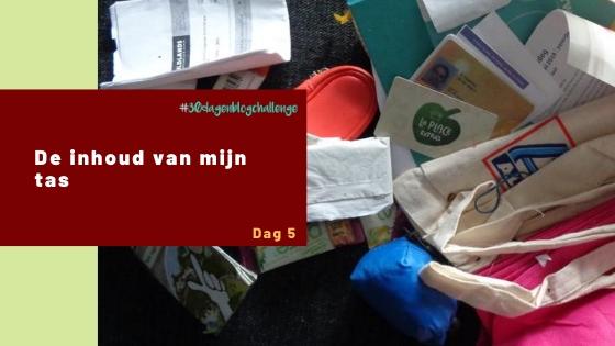 De inhoud van mijn tas – Blog challenge #5