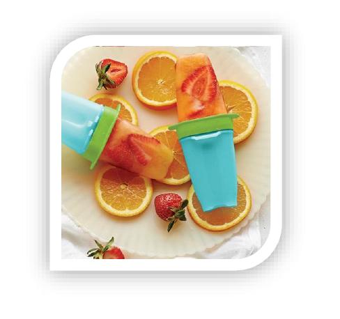 Sinaasappel - aardbei ijsjes