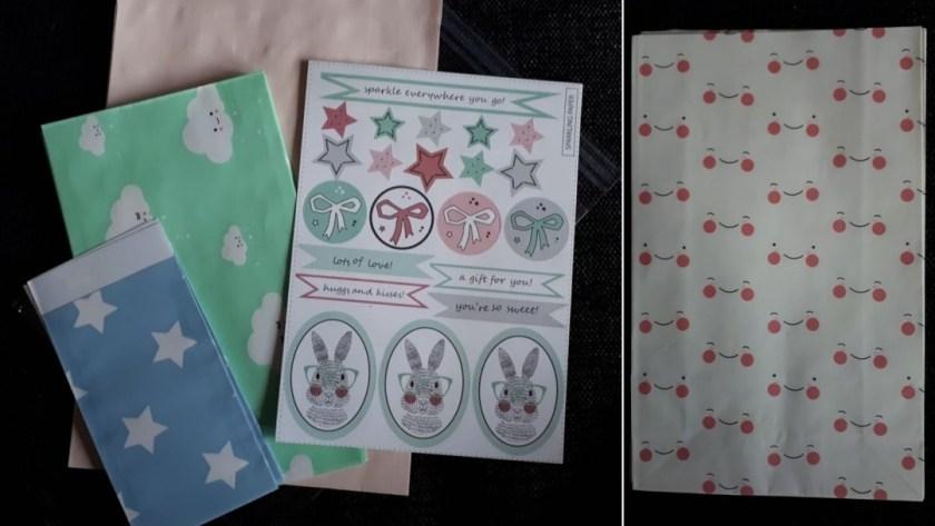stickers en cadeauzakjes