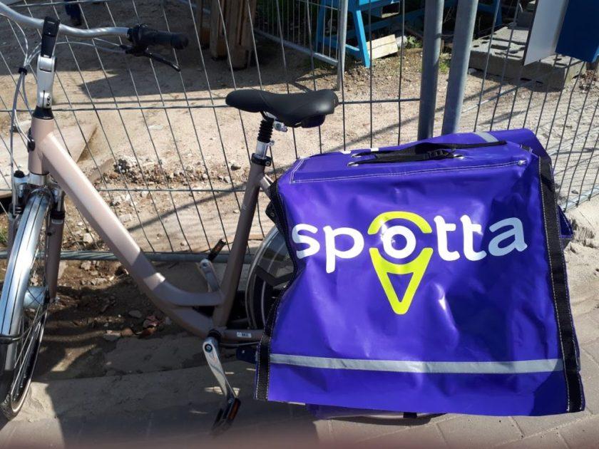 Mijn fiets met Spotta fietstassen.