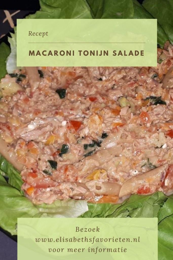 Macaroni tonijn salade