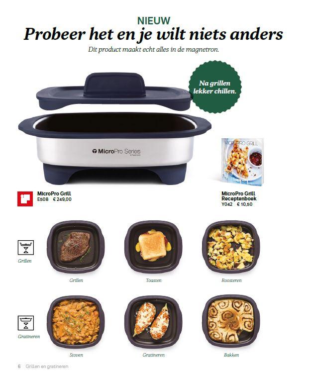MicroPro Grill + receptenboek + gebruik