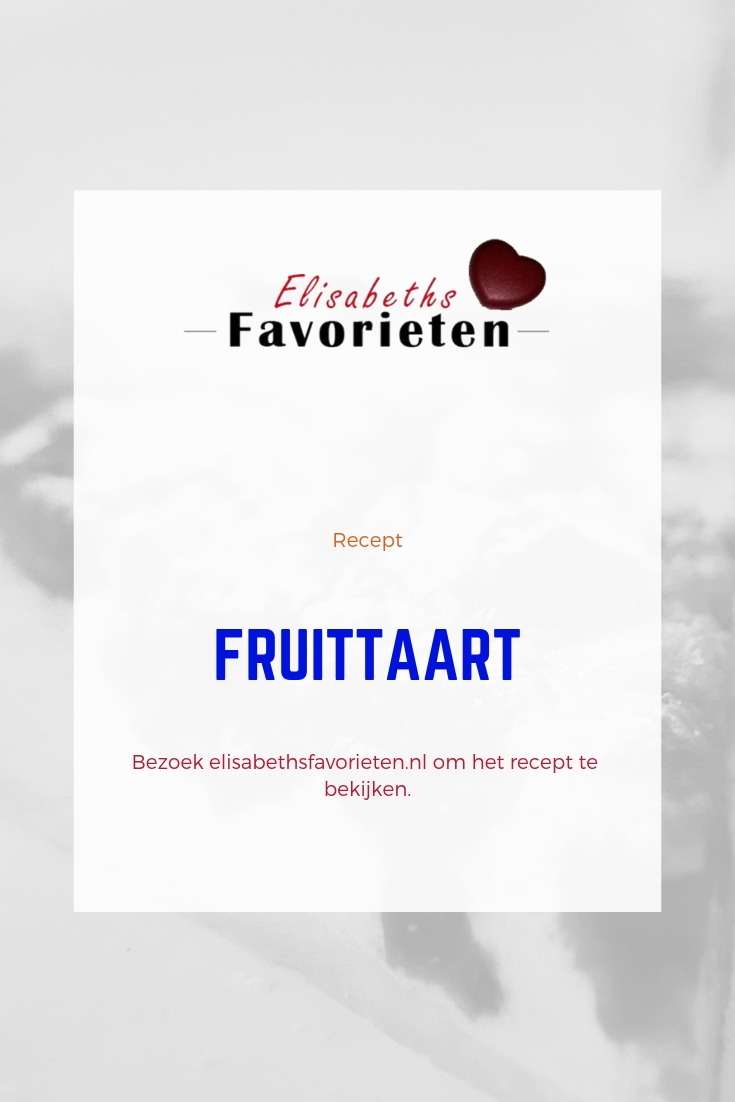pinterest fruittaart recept