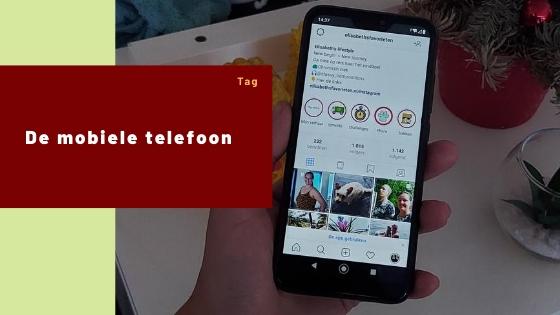 De mobiele telefoon tag