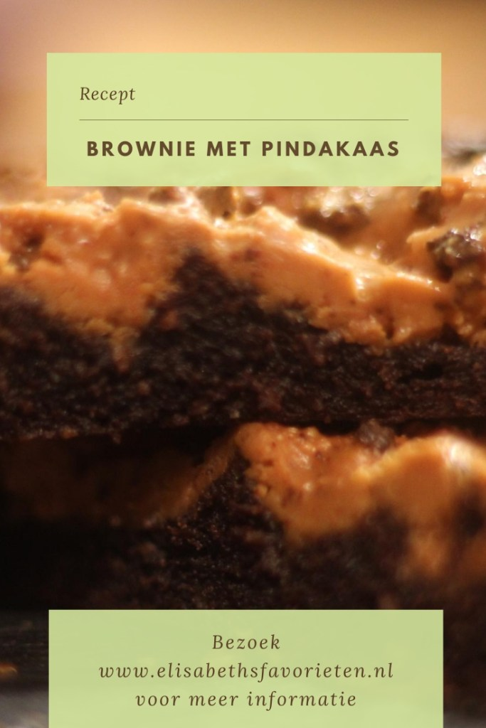 brownie met pindakaas