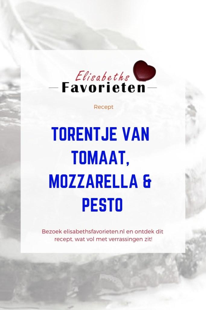 Torentje van tomaat, mozzarella & pesto