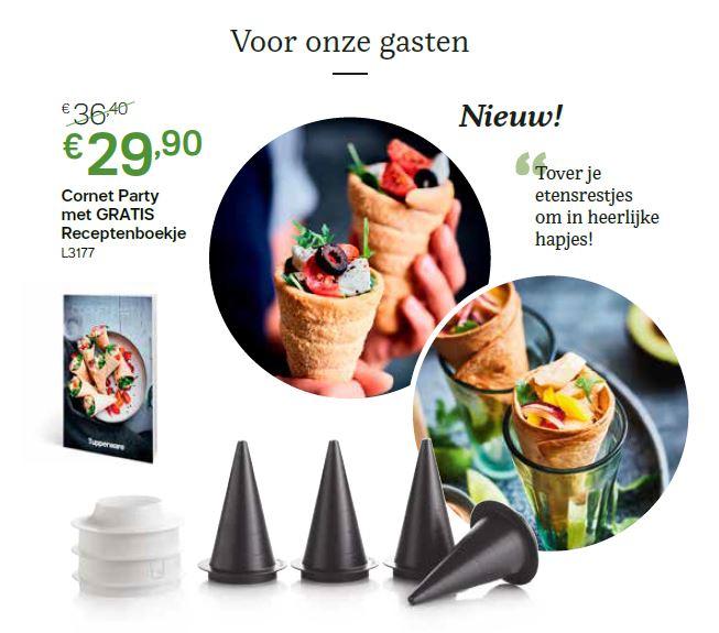 cornet party + gratis receptenboek