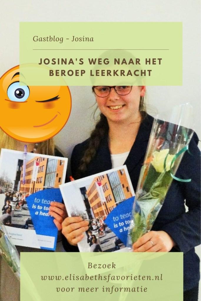 Josina's weg naar het beroep leerkracht