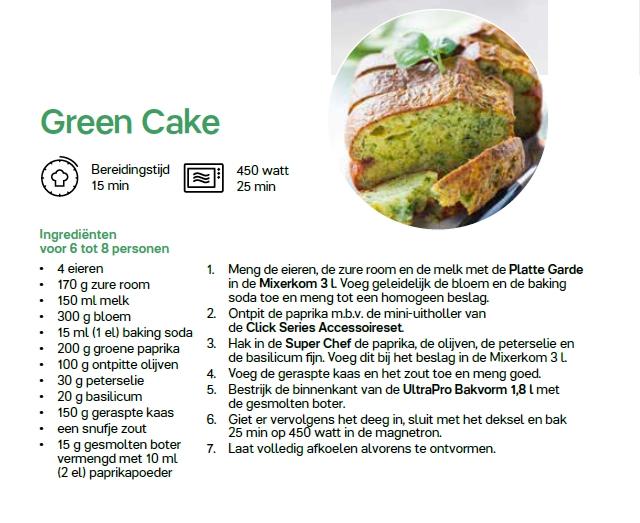 green cake = recept