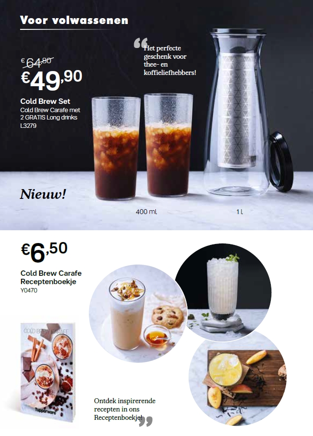 cold brew set + receptenboekje