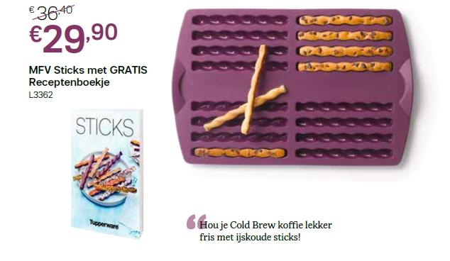 mfv sticks met receptenboekje