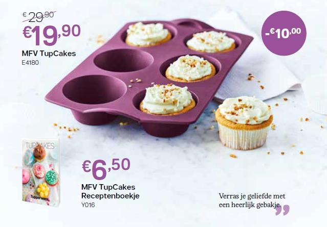 MFV cupcakes + receptenboekje