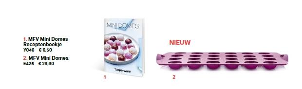 mfv mini domes + receptenboekje