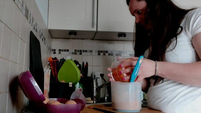 geraspte wortels erbij