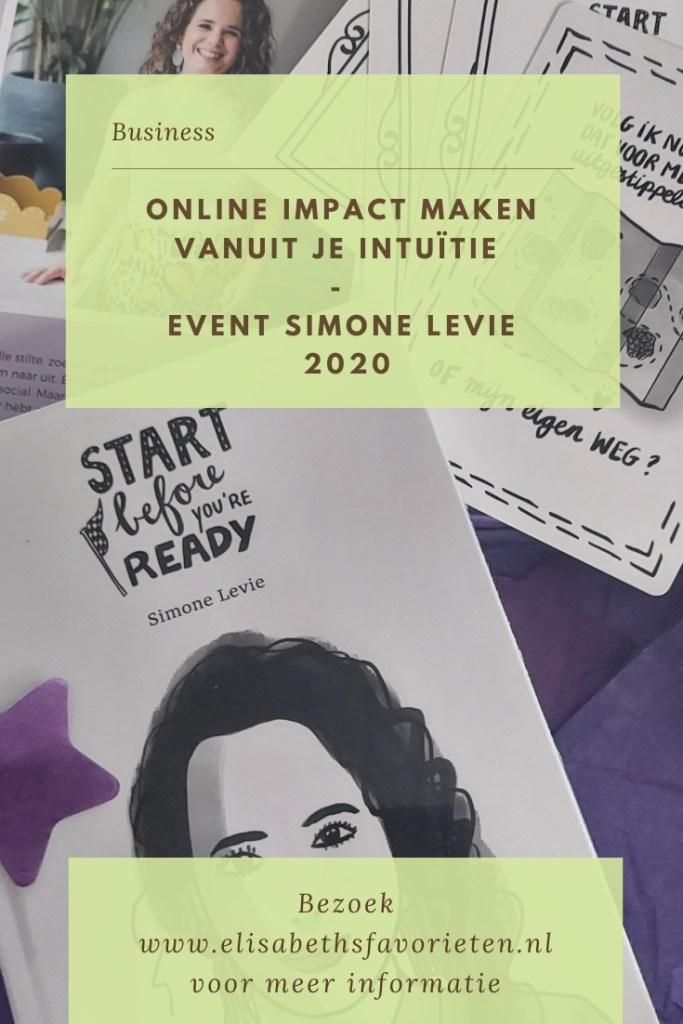 Online impact maken vanuit je intuïtie - Event Simone Levie 2020
