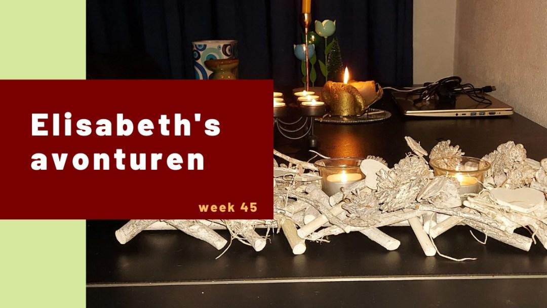 Elisabeth's avonturen week 45 – 2020