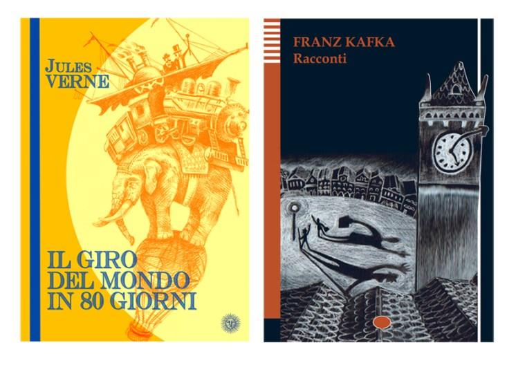 Propotipi di copertine per i classici della narrativa.